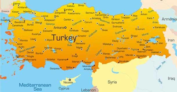 Landkarte Der Turkei